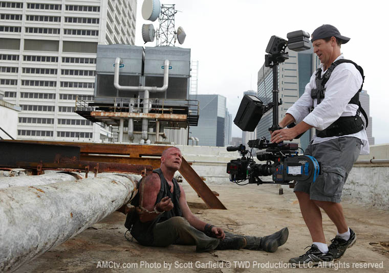 Sourced from Steadicam Operator Chris Jones blog. On the set of TV series 'The Walking Dead'